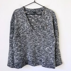 ZARA knit embellished gray sweater
